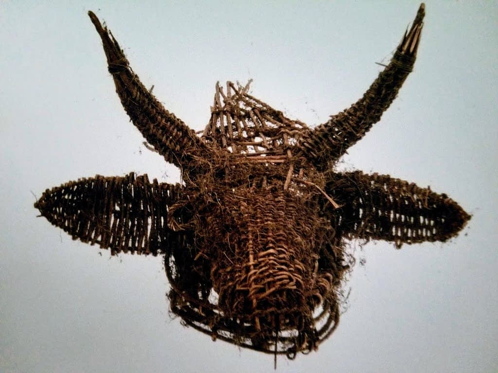 Head Mask by artist Khvay Samnang and worn by dancer Rady Nget.