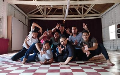 Peter Chin and Tribal Crackling Wind Dance company in Siem Reap
