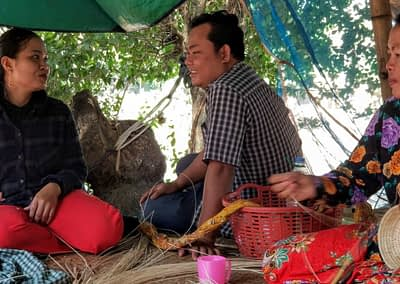 MANAVA weaving designed by Ka-Lai Chan