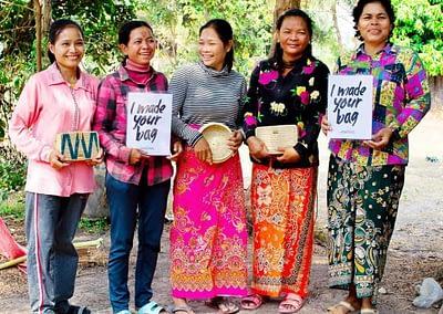 Women weavers at MANAVA in Siem Reap Cambodia