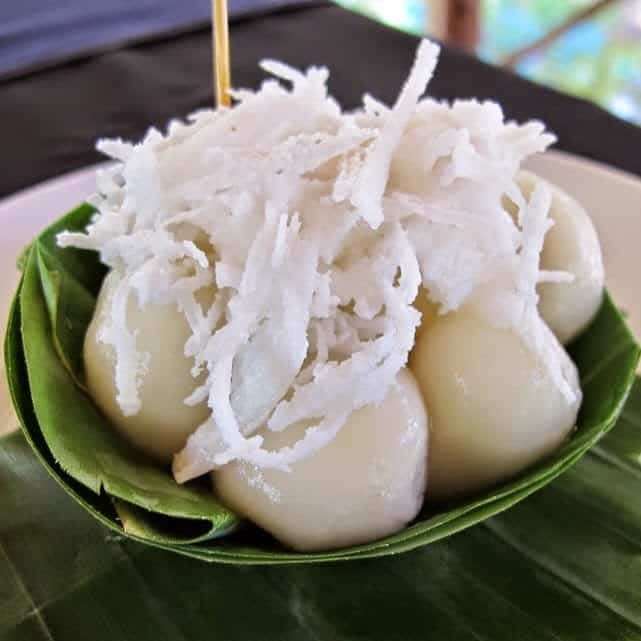 Num Plae Ai are the fancy sweet rice balls frequently prepared for Pchum Ben